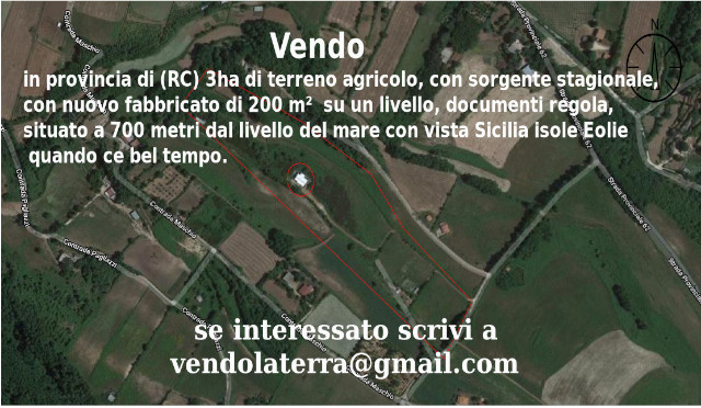 Vendo in provincia di (RC) 3ha di terreno agricolo